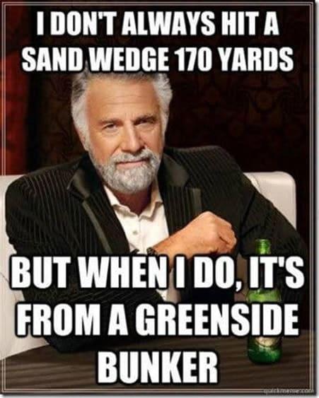 Sand Wedge Golf Meme