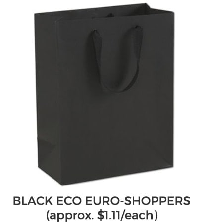 Golf Gift Bag Black Euro Shopper