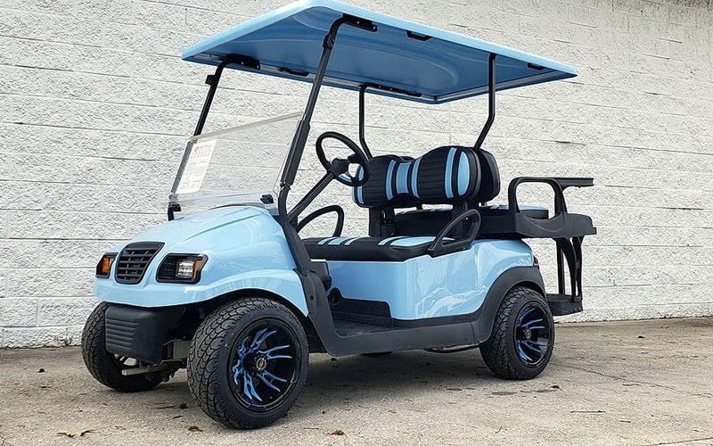 Sky Blue Golf Cart