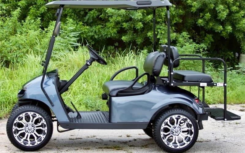 Steel Blue Golf Cart