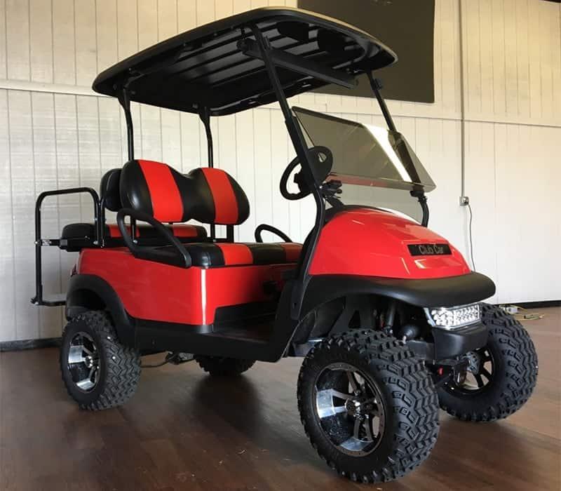 The Clean Machine Red Golf Car