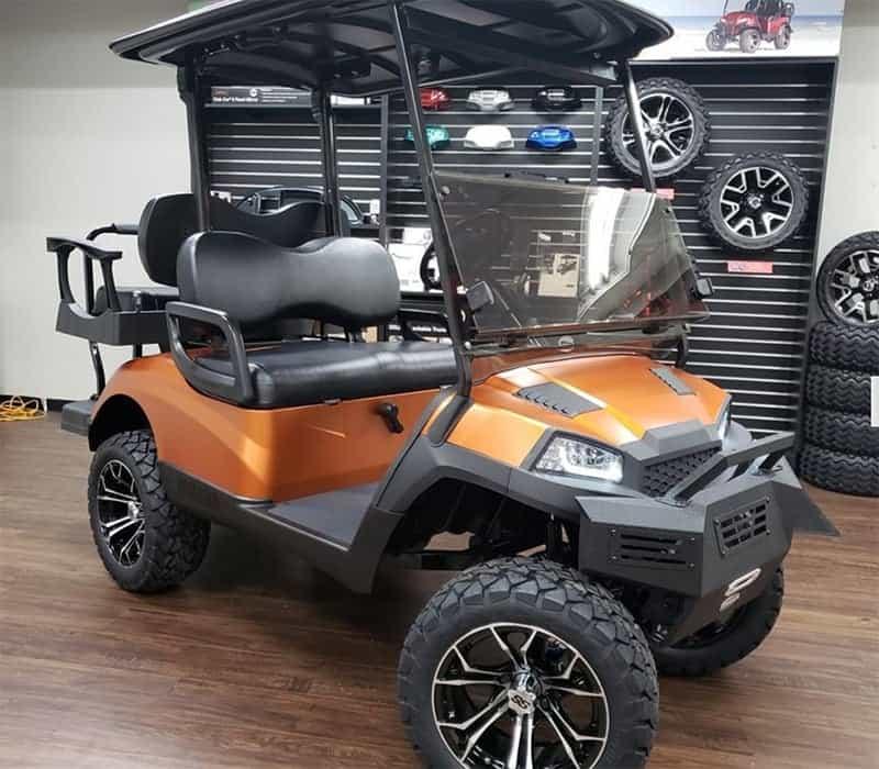 Matte Orange Golf Cart