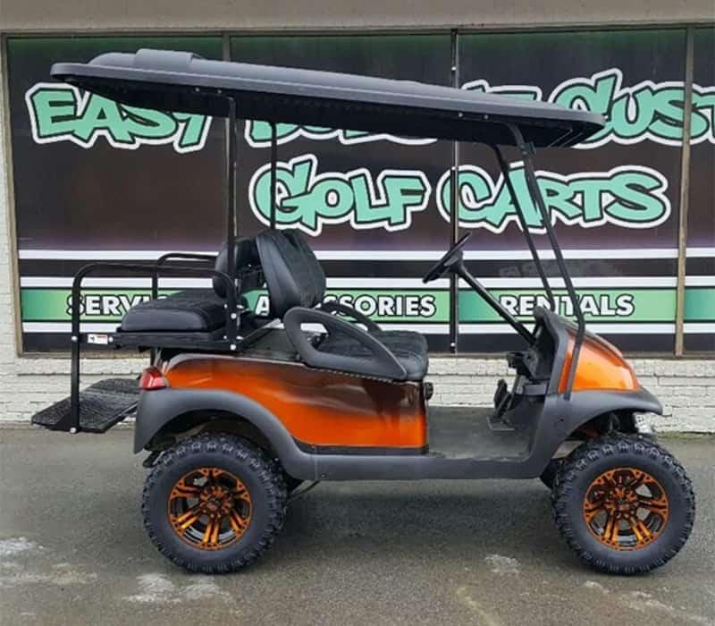 Orange Fade Golf Cart