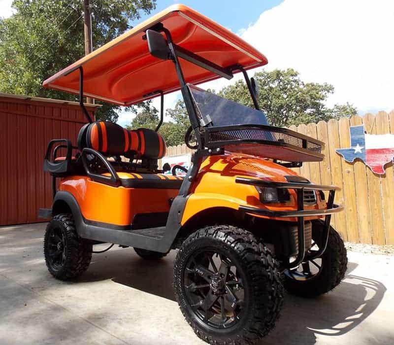 Orange Phantom Golf Cart