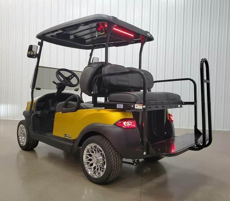 The Yellow Gold Golf Cart