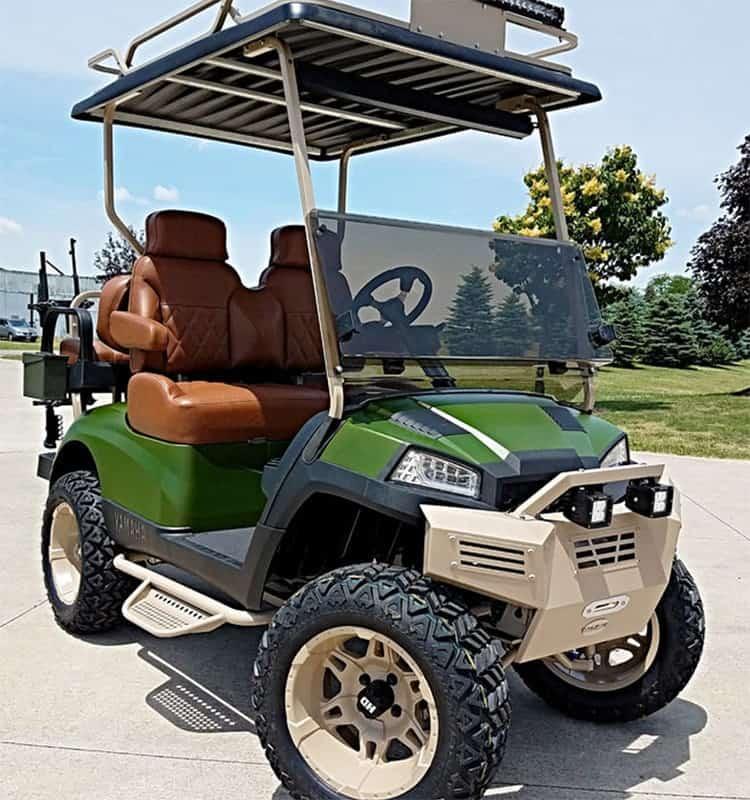 The Liberty Hunter Green Golf Cart