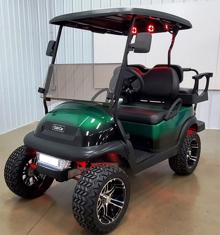 The Fade to Black Kelly Green Golf Cart
